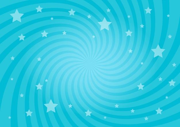渦巻く放射状の星の背景 Premiumベクター