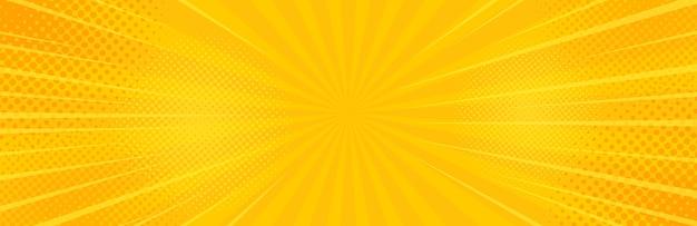 Урожай поп-арт желтый фон. Premium векторы