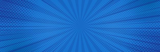 Урожай поп-арт синий фон. Premium векторы