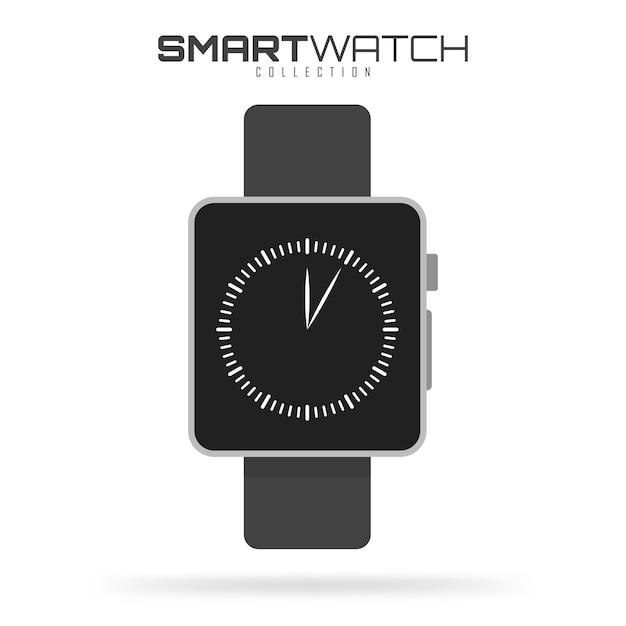 白で隔離されるスマートな腕時計 Premiumベクター