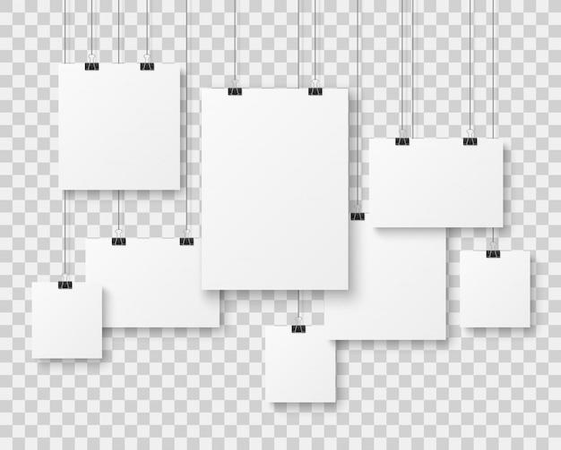 空白の写真ギャラリー Premiumベクター