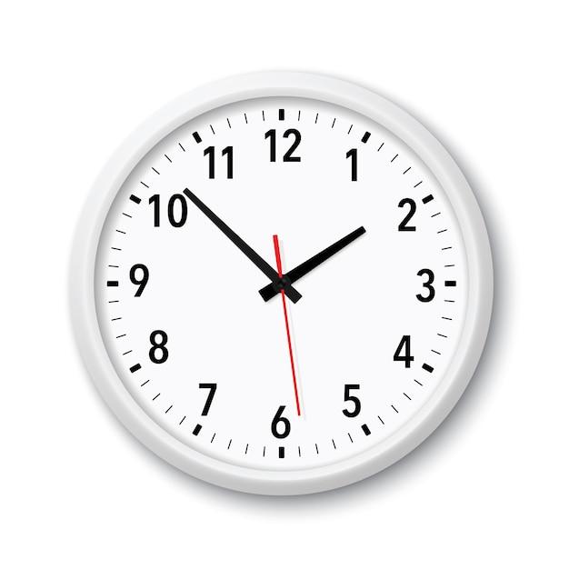 現実的な白いモダンなクォーツ時計 Premiumベクター