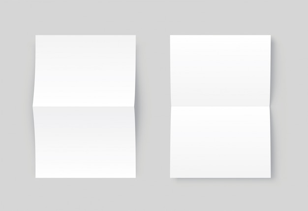 Вектор два пустой белой бумаги открыт. Premium векторы