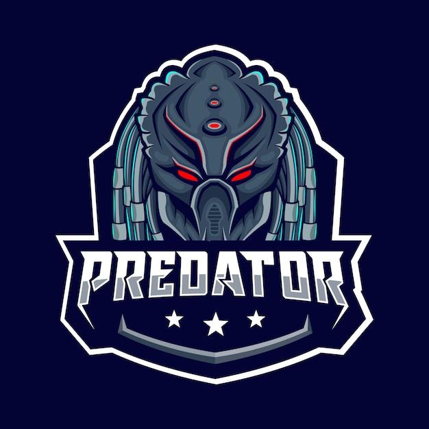 Хищник синий значок Premium векторы