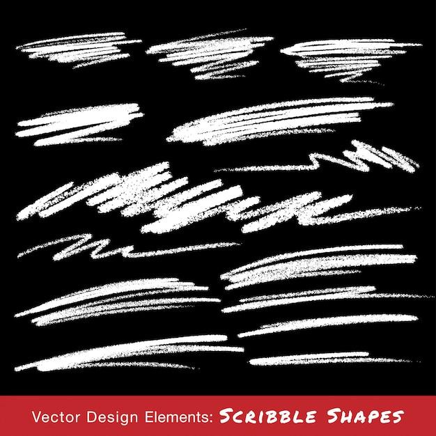Белые каракули мазки рисованной карандашом. иллюстрация Premium векторы