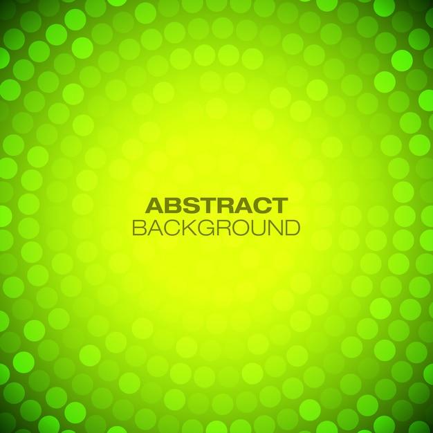 抽象的な円形の緑-黄色の背景。 Premiumベクター