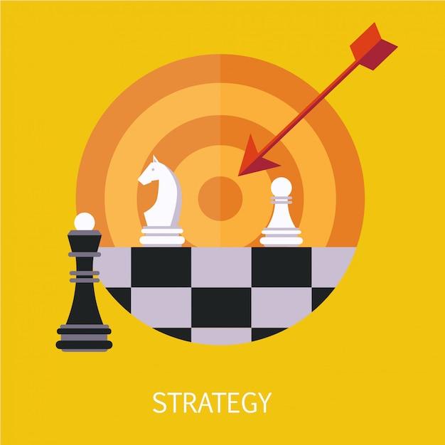 ビジネス戦略コンセプトアート Premiumベクター
