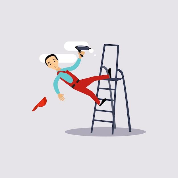 Травма на работе страхование иллюстрации Premium векторы