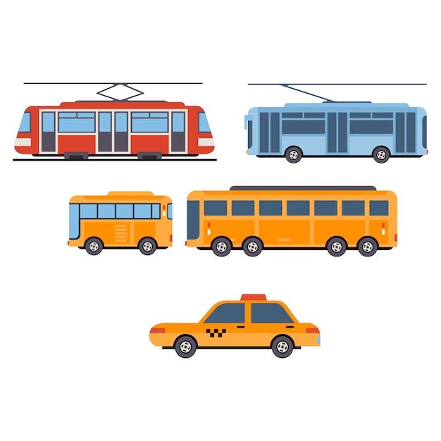 Городской транспортный комплекс Premium векторы