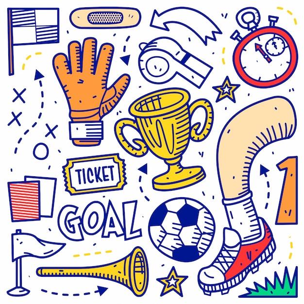 サッカーのスポーツ Premiumベクター