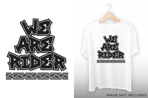 Мы надписи для дизайнера футболки Premium векторы