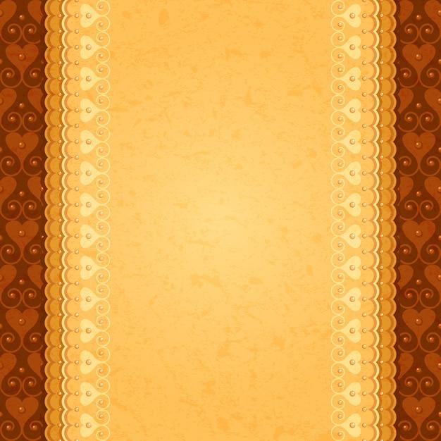 Древний вертикальный фон с восточным орнаментом Premium векторы