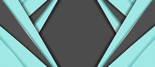 Абстрактный синий и серый цвет с геометрической формы фона баннера Premium векторы