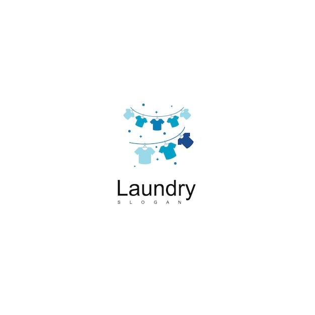 ランドリーロゴ Premiumベクター
