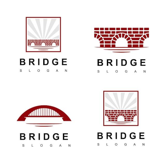 ブリックブリッジのロゴ Premiumベクター