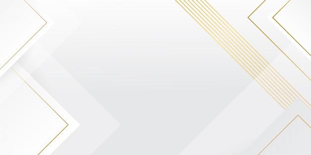 Современный белый фон с эффектом золотых линий Premium векторы