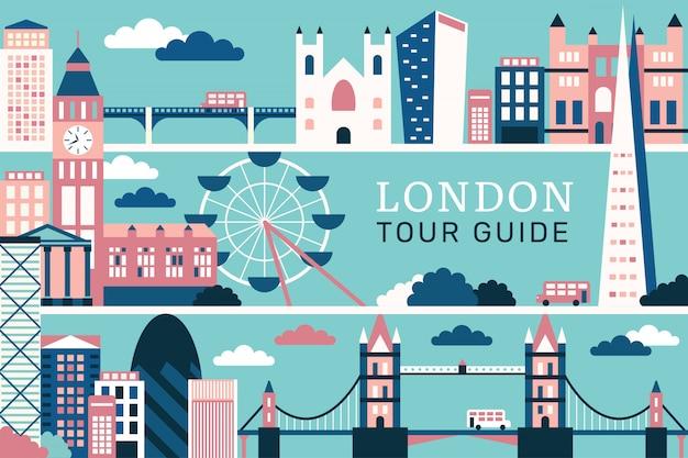 Векторная иллюстрация красивой лондона Premium векторы