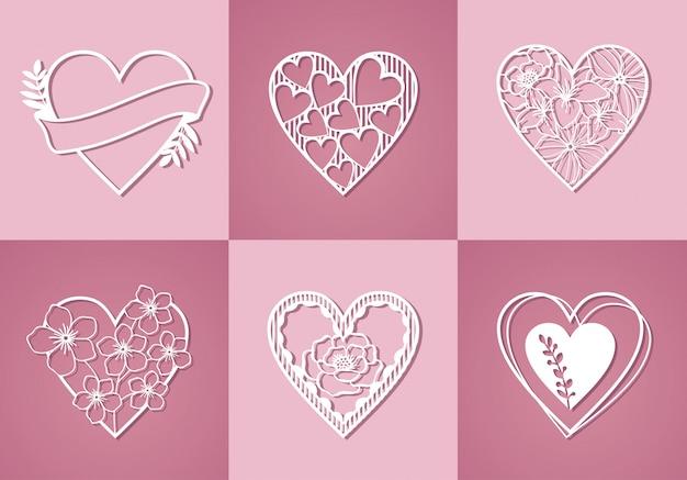 Красивая монограмма любовной коллекции Premium векторы