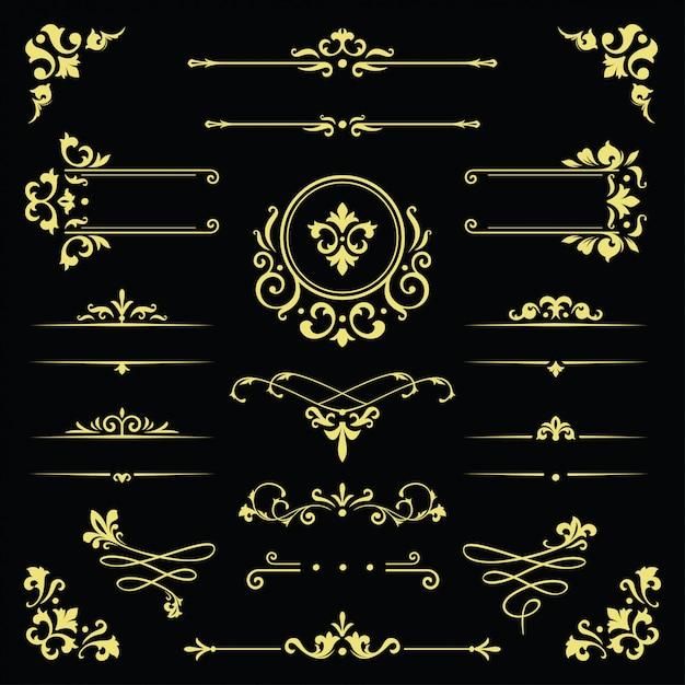古典的な飾り枠、ヴィンテージの枠線図 Premiumベクター