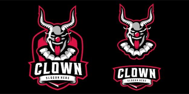 Логотип талисмана клоуна Premium векторы