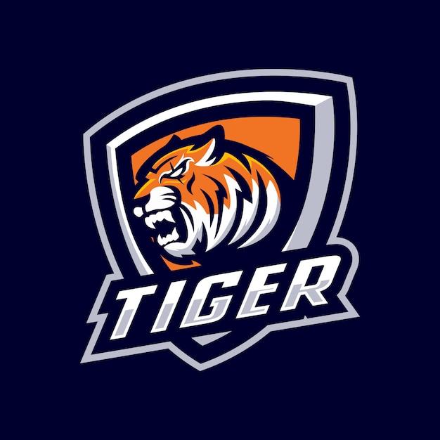 タイガーマスコットロゴ Premiumベクター