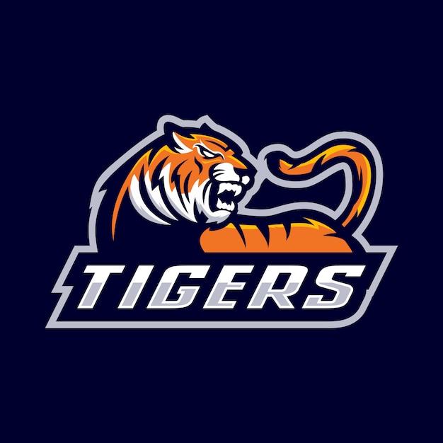 Логотип талисмана тигра Premium векторы