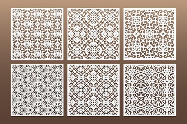 Белые декоративные высечки бесшовные модели Premium векторы