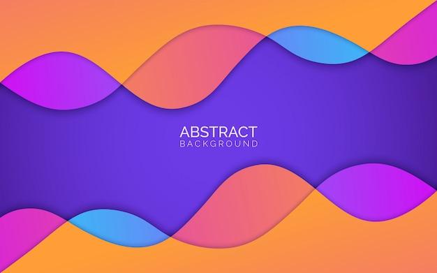 Абстрактный красочный фон Premium векторы