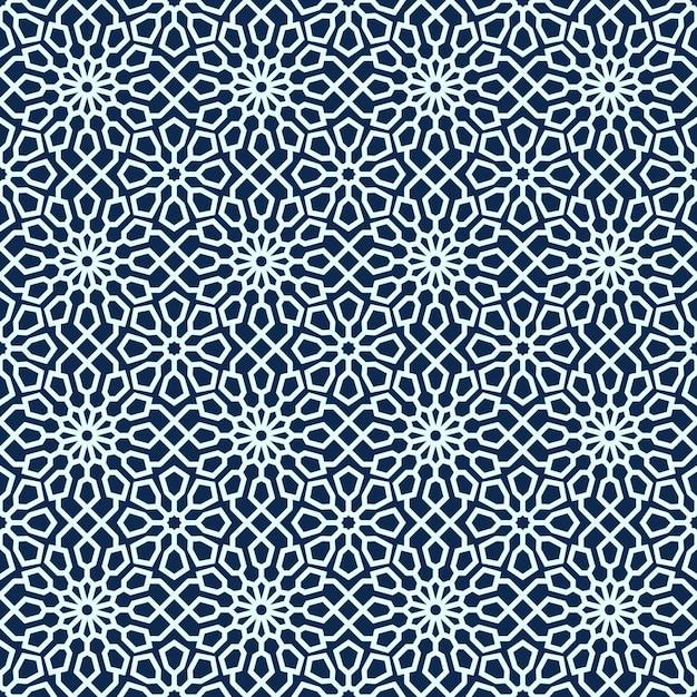 装飾的な幾何学的なシームレスパターン Premiumベクター