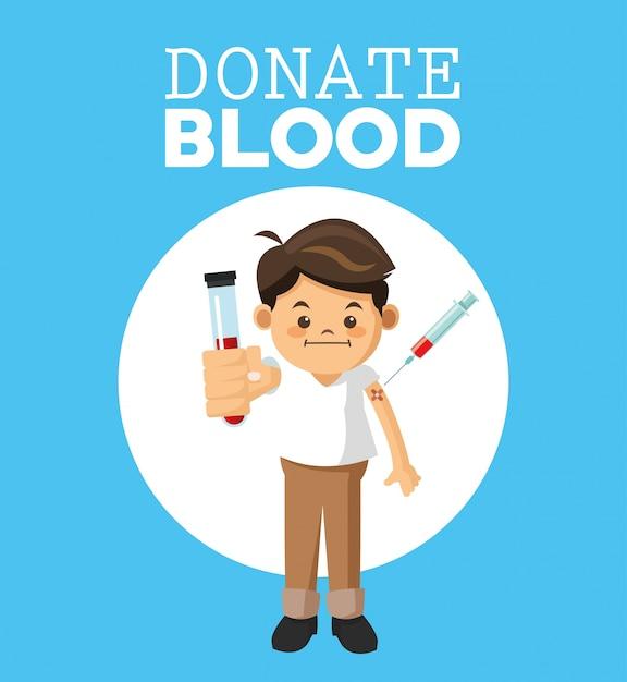 献血デザイン Premiumベクター