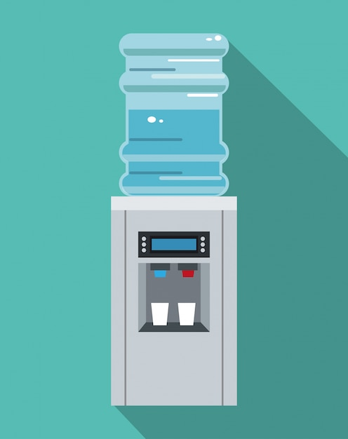 Офис оборудования для водяного охлаждения Premium векторы