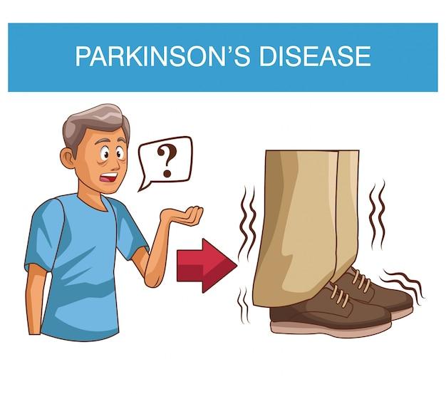 Болезнь паркинсона Premium векторы