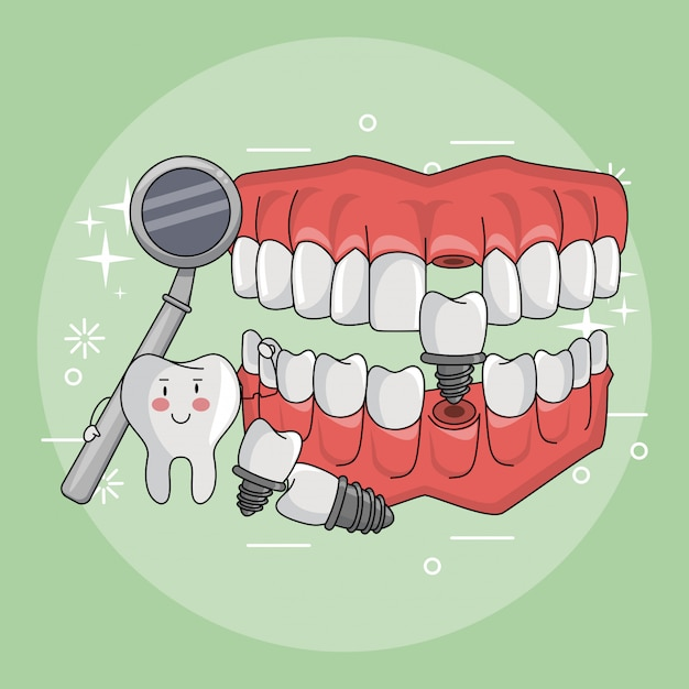 歯科ケア用品 Premiumベクター
