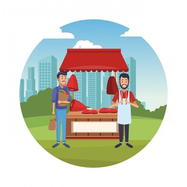 都市公園の人々 Premiumベクター