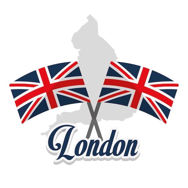 Достопримечательности лондона Premium векторы