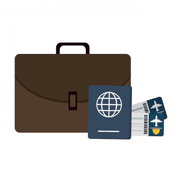 オンライン航空券の購入 Premiumベクター
