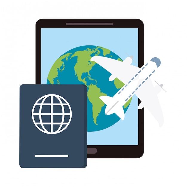 Купить авиабилеты онлайн Premium векторы