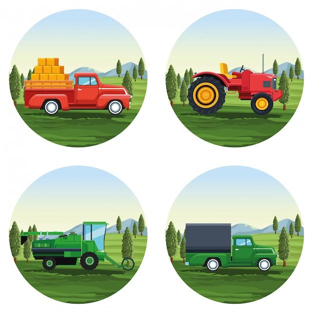 Фарм набор мультфильмов Premium векторы