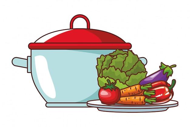鍋野菜 Premiumベクター