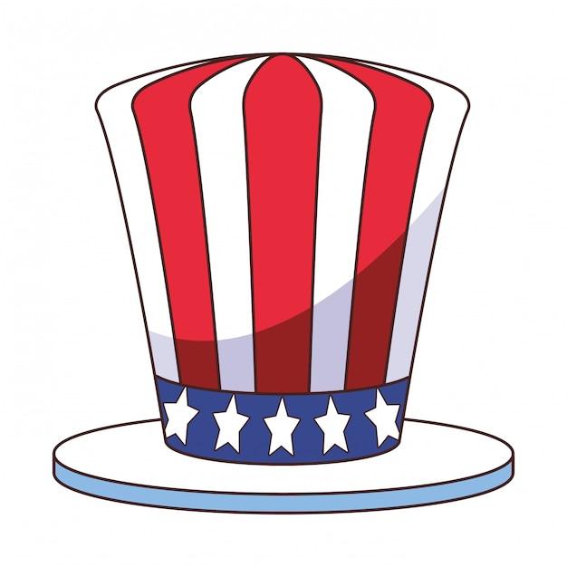 アメリカ国旗ハット漫画 Premiumベクター
