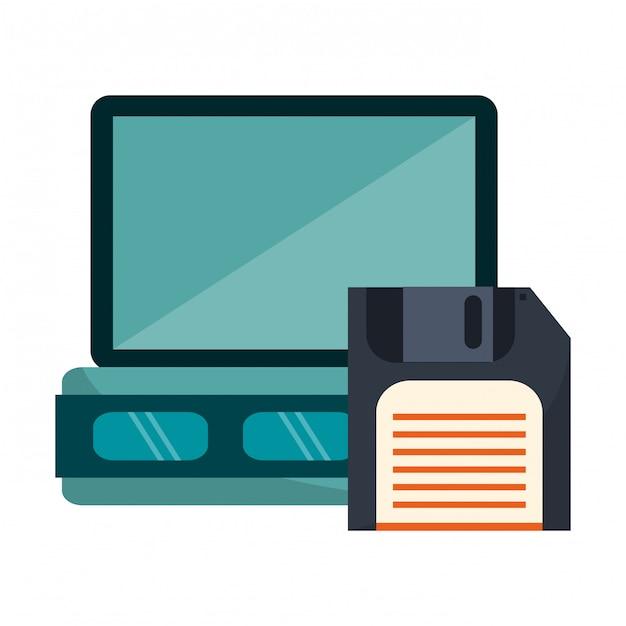 Технология сервера и дискеты Premium векторы