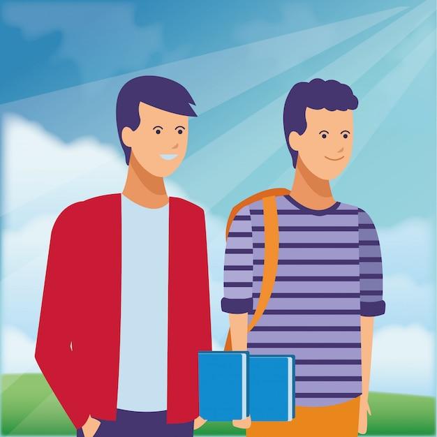 学生服フレンズパーク Premiumベクター