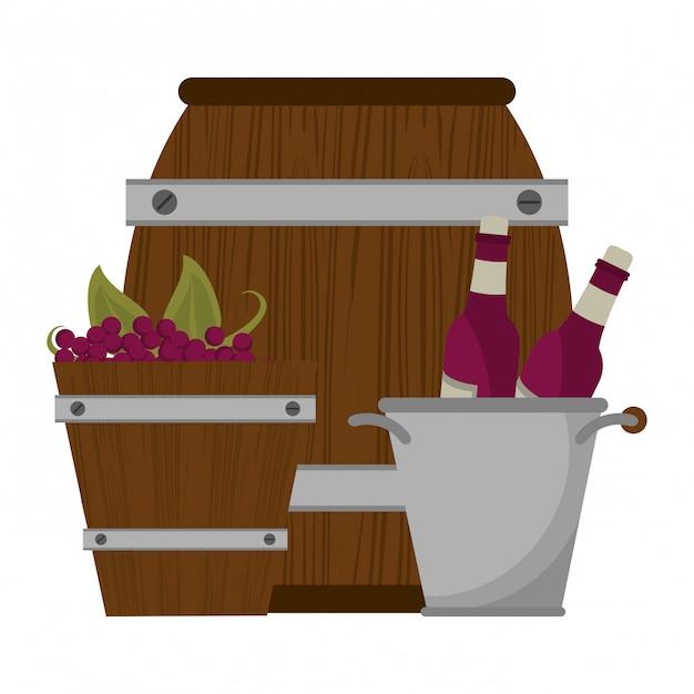 ワインと美食のコンセプト Premiumベクター
