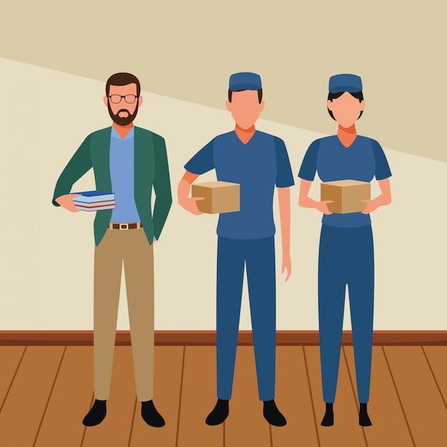 仕事と職業のアバター Premiumベクター