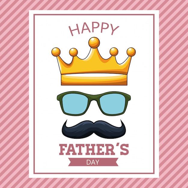 幸せな父親の日カード Premiumベクター