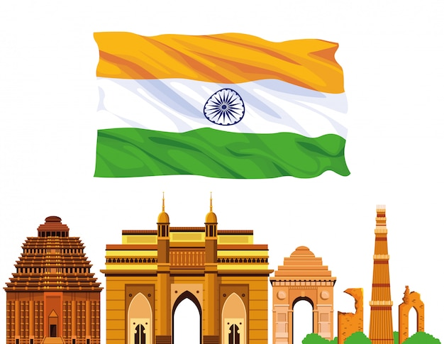 インド国定公園建築 Premiumベクター