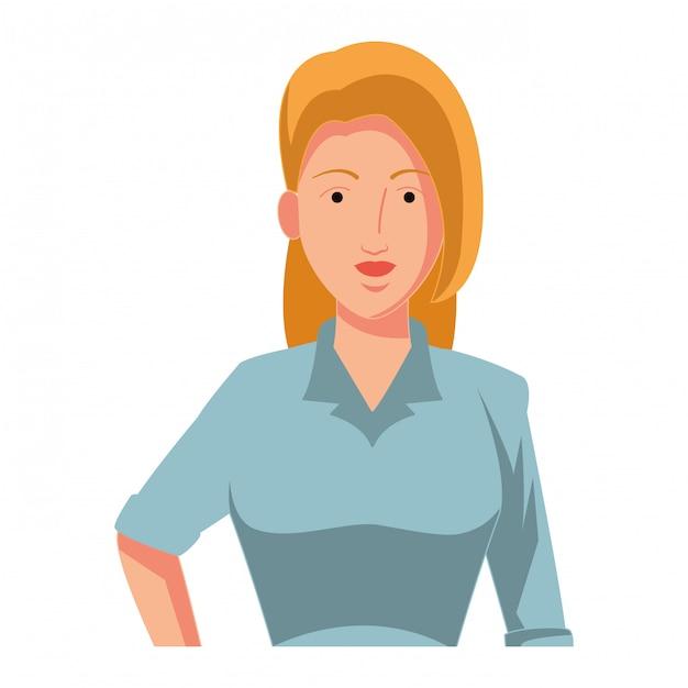 Предприниматель аватар мультипликационный персонаж профиль Premium векторы