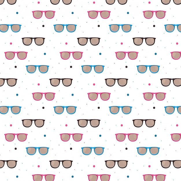 Модные солнцезащитные очки узор фона Бесплатные векторы