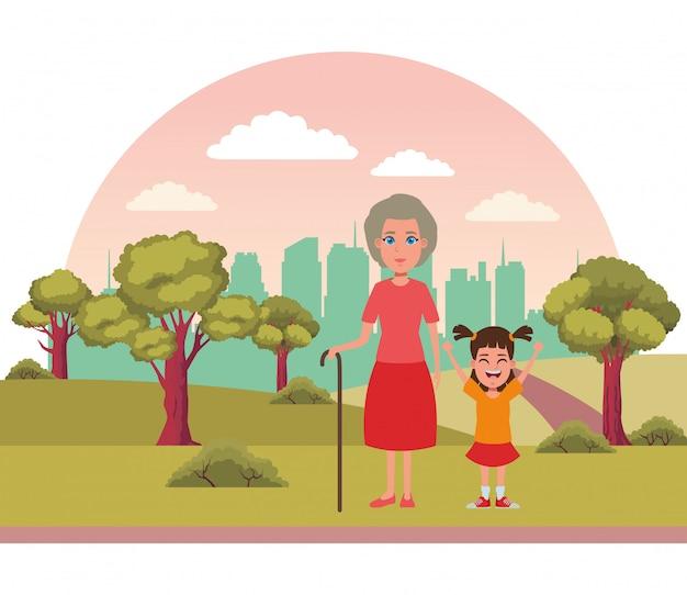 Семейный аватар мультипликационный персонаж портрет Бесплатные векторы
