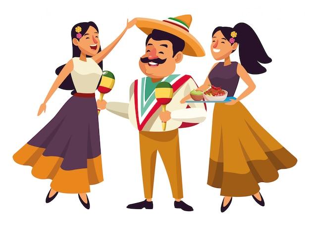 Мексиканская еда и традиционная культура Premium векторы